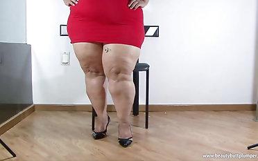 Ruby plus-size yam-sized backside latin Latina