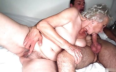 Total! Norma cuckold on her granddad in the next bedroom