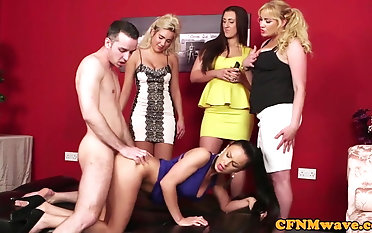 Euro spycam stunner pussyfucked during cfnm