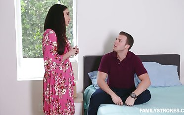 Stepson fucks smoking hot brunt step mammy with big breast Sheena Ryder