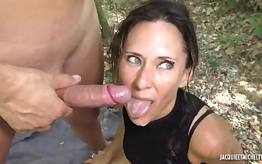 French Darkhaired Babe Lilit Fucks On Nature