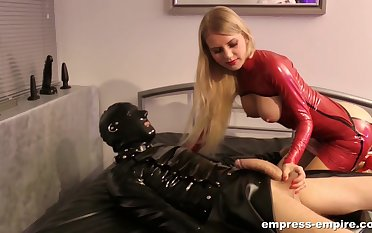 Median Young gentleman Estelle is the real master be required of BDSM hilarity and a handjob