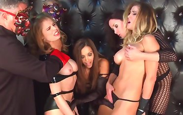 Naughty Busty MILFs BDSM porn photograph