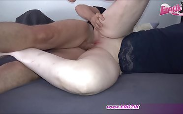 German mom get creampie from son homemade