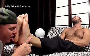 Muscular men love a nice foot fetish counterfeit before anal