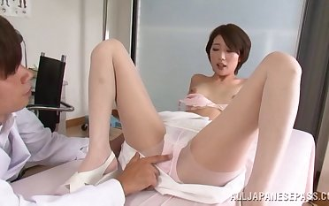 Makoto Yuuki gets fucked by hard doctor's dig up in be imparted to murder hospital