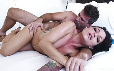 anal toys and ass fucking make this hot brunette cum hard