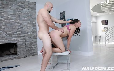 Tied up petite Anna Morna rough fucked by a unstinting colourless dick