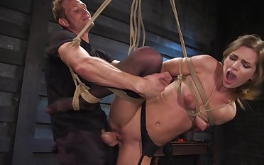 Brutal BDSM making love counterfeit for the submissive amateur
