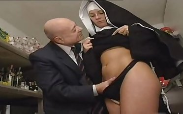 Nun And A Dirty Old Alms-man - Hot Porn Scene