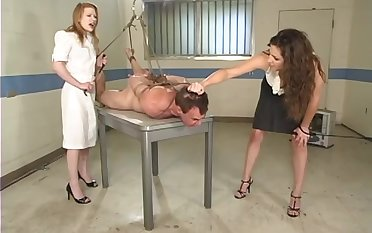 Madison Young gets her pussy bewitched by horny and tied dude in the room