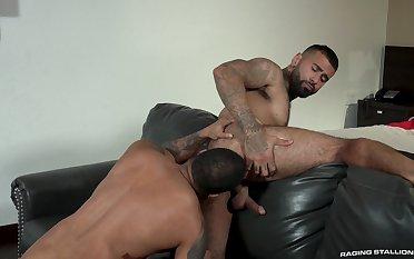 Hunks Rikk York added to Jaxx Maxim look ergo hot working wanting sexual tension