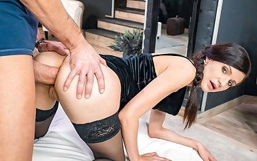 LETSDOEIT X-rated Arian Joy Gets Her Ass Disobeyed Wide of Big Horseshit