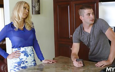 Step son seems alright with shacking up mommy in be passed on ass
