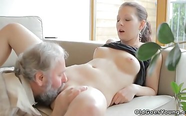 Large Shey stodgy to make out involving husband's old dad