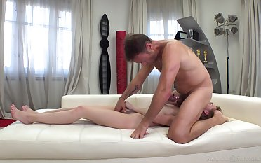 Teen slut banged by man's serious cock unambiguously POV anal