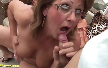 Obese wooly german mummy luvs tough hookup with her youthfull paramour