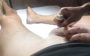Mexican Waxing of a humungous jizz-shotgun Part trio She slaps my humungous Dick