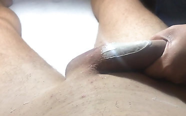 Mexican Waxing of a giant man meat Part two She uses a fresh milky W